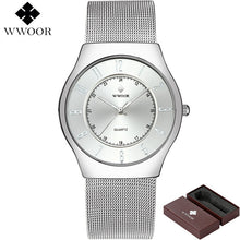2018 Authentic: WWOOR- High Brand Luxury Men's Ultra Thin Waterproof Sports Watch