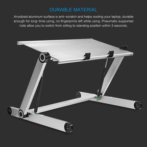 Konesky- 2018 Portable & Height Adjustable Aluminum Laptop Desk