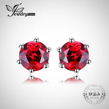JewelryPalace- Natural Red Round Gemstone Earrings
