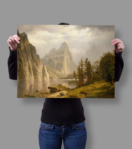 Hang this Yosemite Valley by Albert Bierstadt 18x24 Poster in dorms, bedrooms, offices, studios, basically anywhere with walls to decorate with amazing imagery for everyone to view and compliment on.