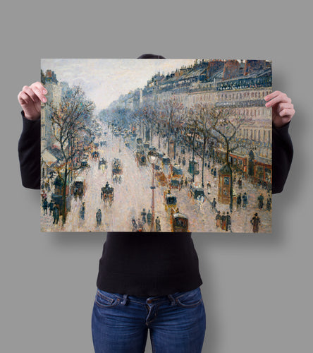 Shop.Mall.University- The Boulevard Montmartre on a Winter Morning by Camille Pissarro 18x24, , Shop Mall University. All at a low price to help you save money and live great! Only here at - Shop Mall University