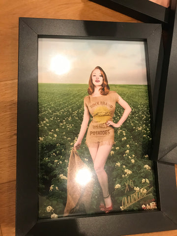 Pinup Potato Sack 8x10 Print Framed & Signed - LIMITED ONLY 1!