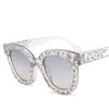 Luxury Crystal Square Mirror Retro Full Star Sunglasses
