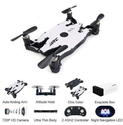 H49 SOL Ultrathin Wifi FPV Selfie Mini Drone 720P Camera