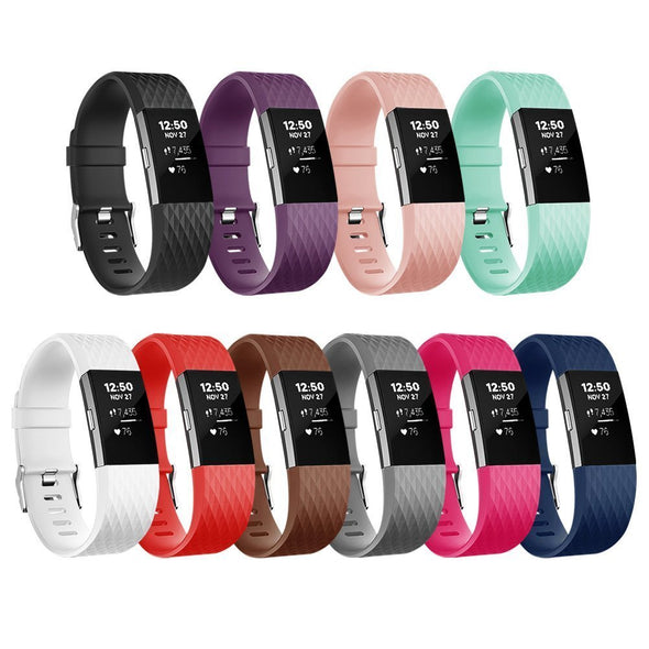 Diamond Silicone Band for Fitbit Charger 2