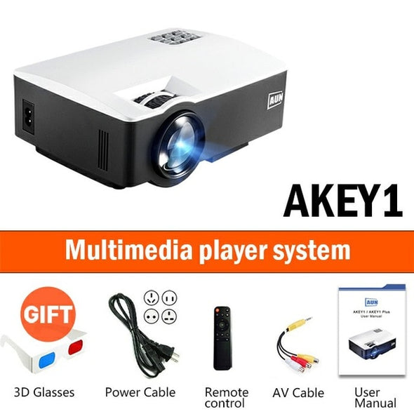 Full HD LED Projector AKEY1 Plus for Home Theater