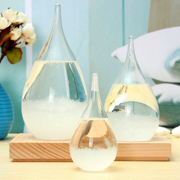 Storm Glass Weather Forecaster Home Decorative Crystal