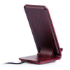 Wireless Wood Grain Charging Stand For Samsung Devices