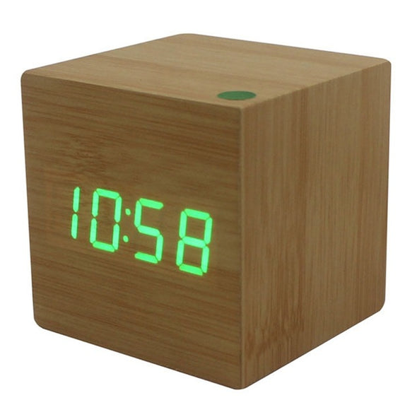 Wooden Cube LED Clock