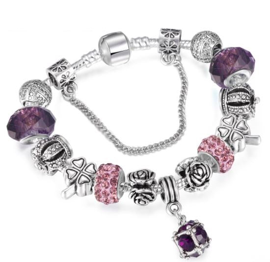 FREE Silver Crystal Charm Bracelet