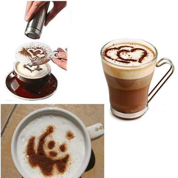 16 Pcs Cappuccino Coffee Art Stencil