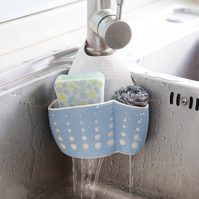 Kitchen Sponge Drain Holder Storage Rack
