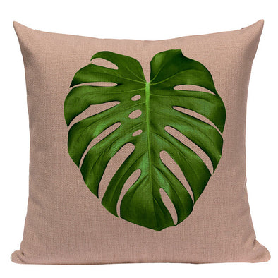 Geometric Nordic Tropic Palm Leaf Throw Cushion Cover