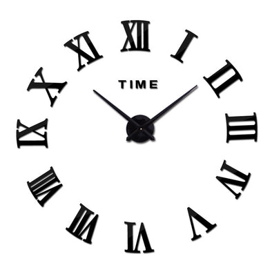 Roman DIY Mirror Large Home Decor Wall Clock