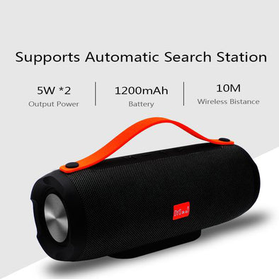 Portable Stereo Big Power Wireless Bluetooth Column Speaker