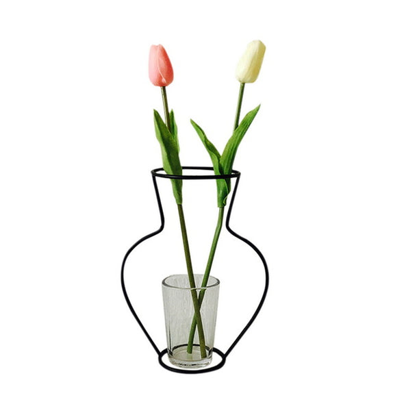 Home Decoration Iron Vase for Flower Plant