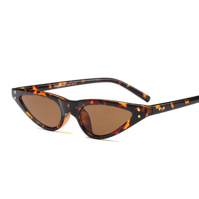 Retro Shade Triangle Vintage Cat Eye Sunglasses