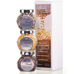 Popcorn Kernels Flight (three 6 ounce jars)