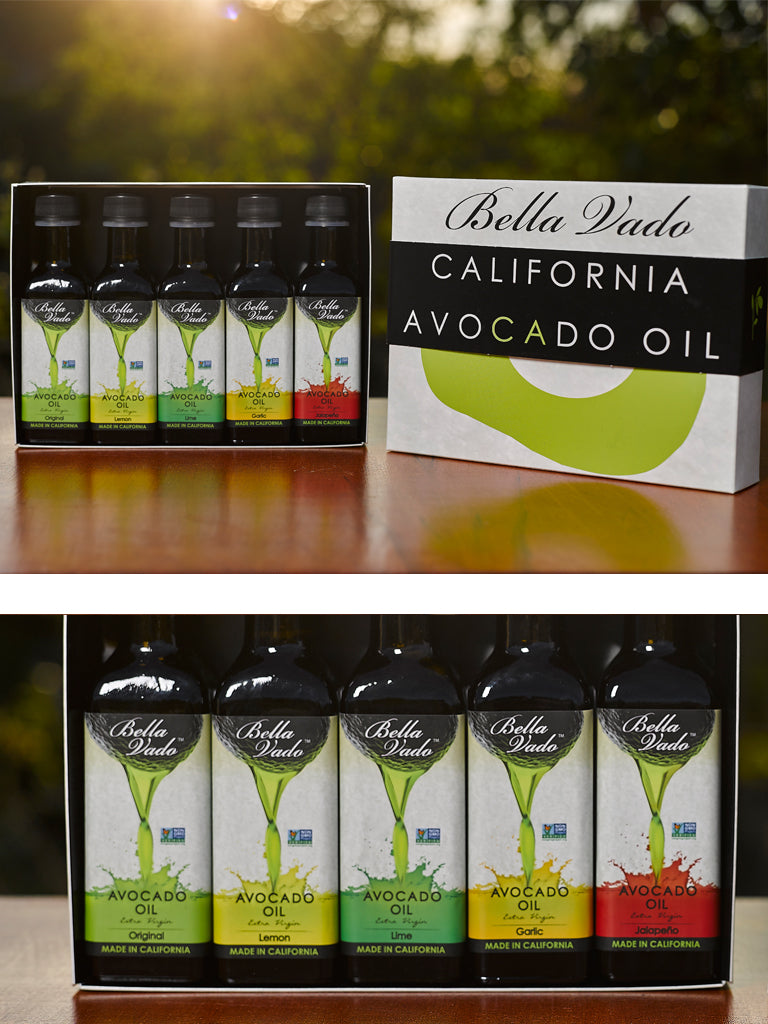 Avocado Oil Mini Gift Set (five 3.4 oz bottles)