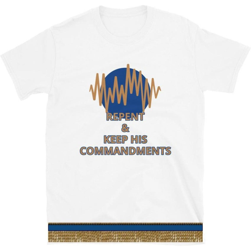 Israelite Repent Short Sleeve T-shirt With Gold Fringes
