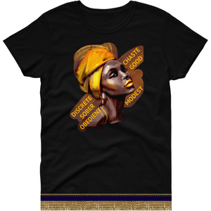 Israelite Titus 2:5 Short Sleeve T-shirt With Gold Fringes