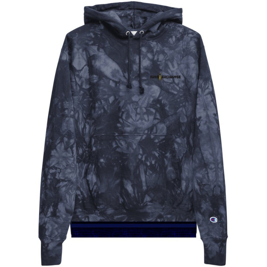 King Exchange Champion Tie-Dye Hoodie With Fringes