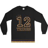 Long Sleeve Israelite 12 Tribes T-shirt With Gold Fringes