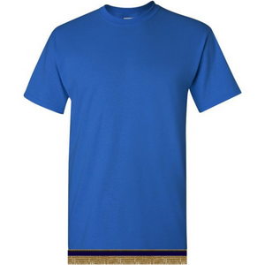 Short Sleeve Youth Boys & Girls Royal Blue T-shirt With Fringes
