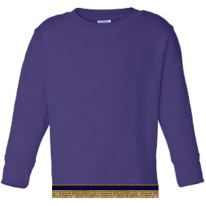 Long Sleeve Toddler Boys & Girls Purple T-shirt With Fringes