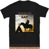 Tribe Of Gad Short Sleeve T-Shirt With Gold Fringes