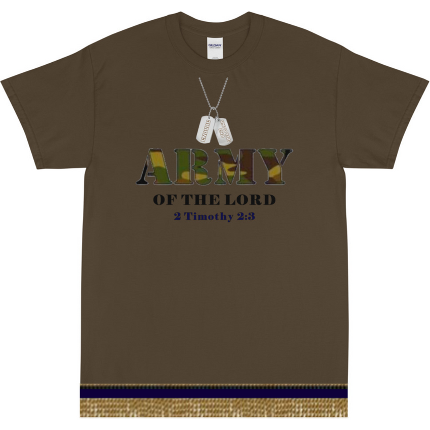 Israelite Army Of The Lord Short Sleeve T-shirt With Gold Fringes