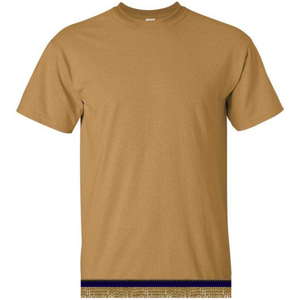 Short Sleeve Adult Gold T-shirt With Fringes