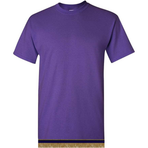Short Sleeve Youth Boys & Girls Purple T-shirt With Fringes