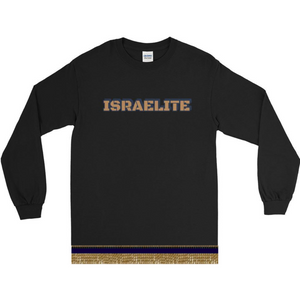 Long Sleeve Black Ops ISRAELITE T-shirt With Gold Fringes