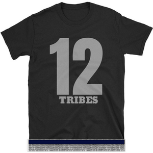 Israelite 12 Tribes Short Sleeve T-shirt With Gray Fringes