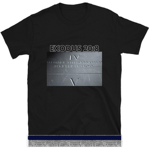 Israelite Exodus 20:8 Short Sleeve T-shirt With Silver Fringes