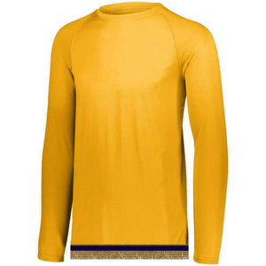 Performance Yellow Gold Long Sleeve T-shirt With Fringes