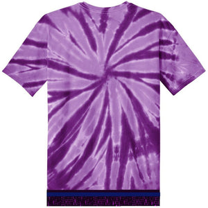 Youth Tie Dye Short Sleeve Purple T-shirt With Purple Fringes