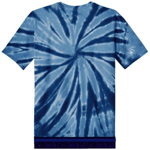 Youth Tie Dye Short Sleeve Navy T-shirt With Navy Fringes