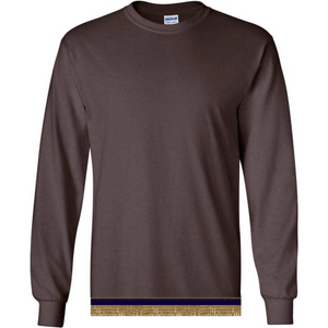 Long Sleeve Adult Brown T-shirt With Fringes