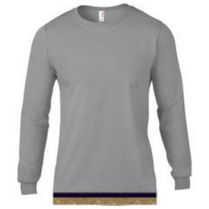 Long Sleeve Adult Gray T-shirt With Fringes