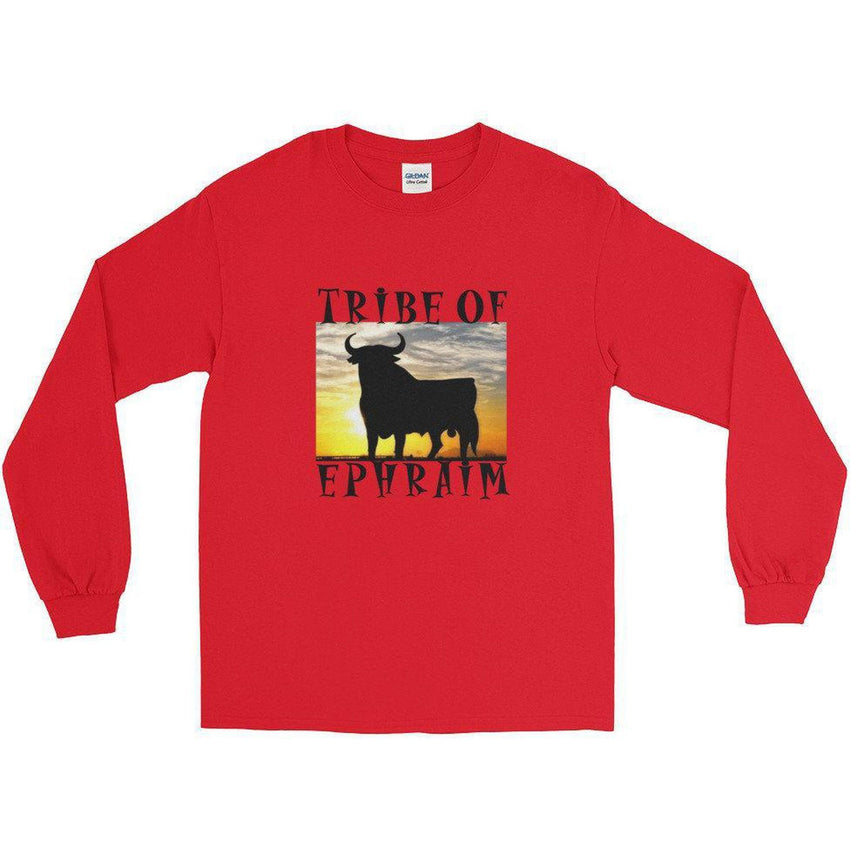 Israelite Tribe Of Ephraim Long Sleeve T-shirts With Gold Fringes