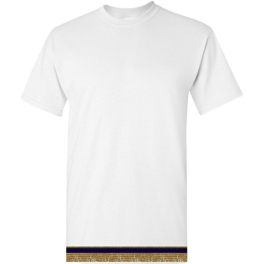 Short Sleeve Adult White T-shirt With Fringes