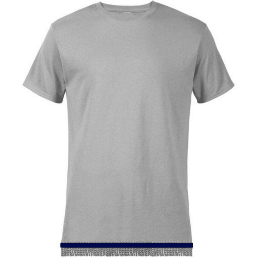 Short Sleeve Adult Gray T-shirt With Fringes
