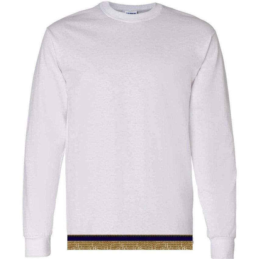 Adult White Long Sleeve T-shirt With Fringes