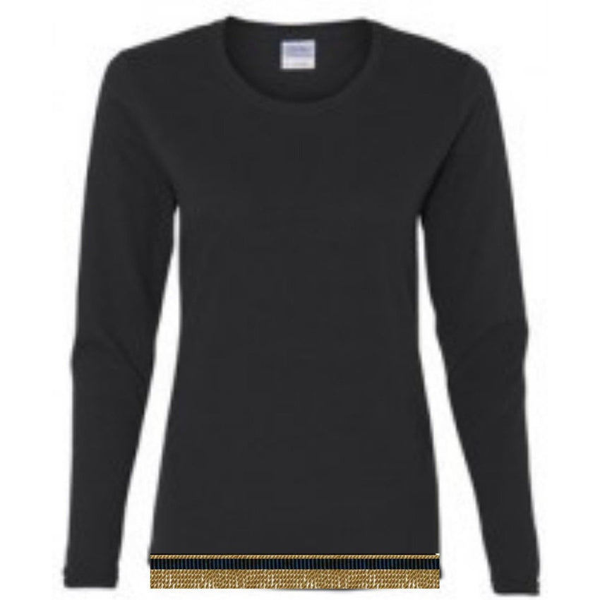 Women's Custom Long Sleeve T-shirt With Fringes