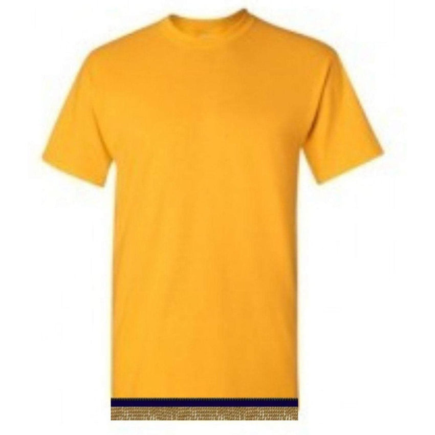 Adult Yellow Gold Short Sleeve T-shirt With Fringes