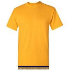 Short Sleeve Youth Boys & Girls Yellow Gold T-shirt With Fringes