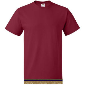 Youth Boys & Girls Burgundy Short Sleeve T-shirt With Fringes