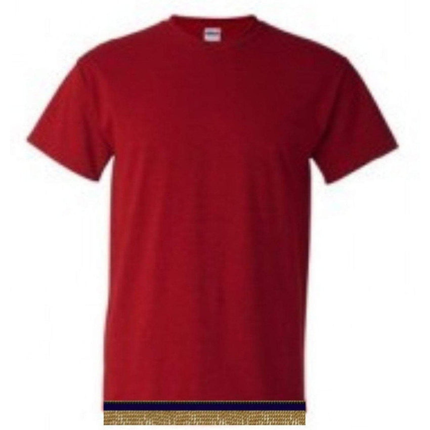 Youth Boys & Girls Cherry Red Short Sleeve T-shirt With Fringes